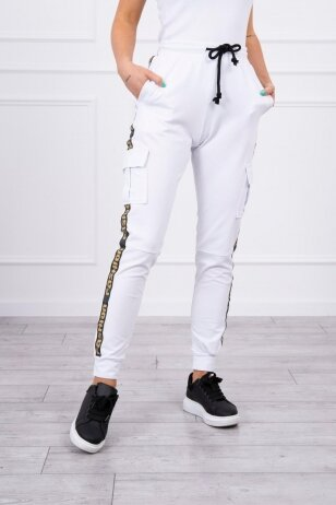Baltos kelnės MOD508