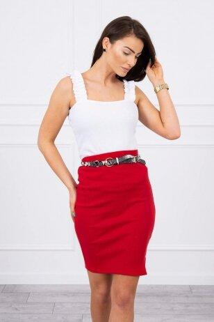 Raudonas sijonas MOD690