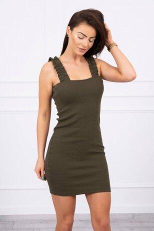 Chaki spalvos suknelė MOD692