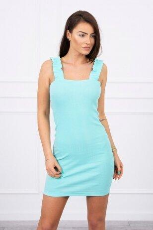 Mėtinės spalvos suknelė MOD692