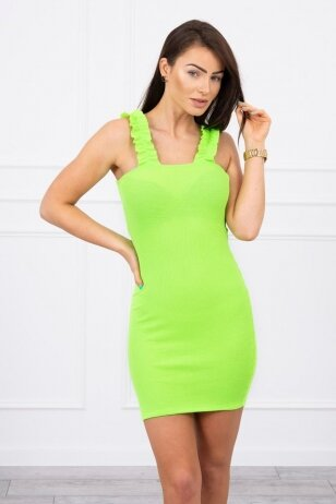 Neoninė žalia suknelė MOD692