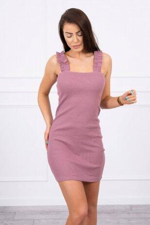 Tamsiai rožinė suknelė MOD692