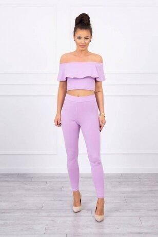 Violetinės spalvos moteriškas kostiumėlis MOD015