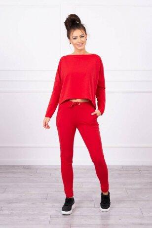 Raudonas sportinis kostiumas MOD707