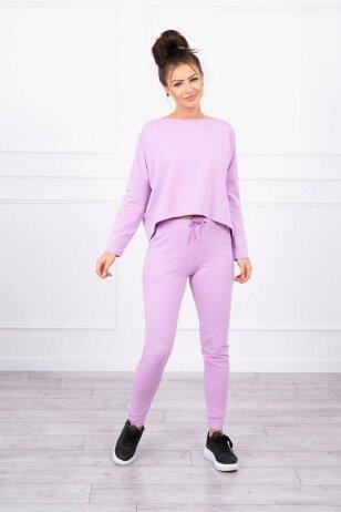 Violetinės spalvos sportinis kostiumas MOD707