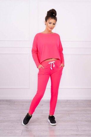 Neoninės rožinės spalvos sportinis kostiumas MOD707