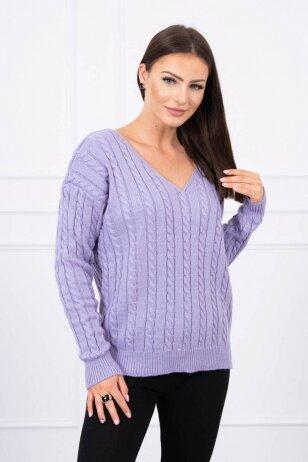 Violetinės spalvos megztinis MOD484