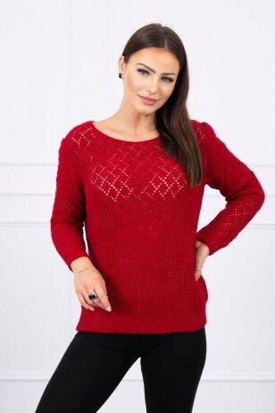 Raudonas megztinis MOD489