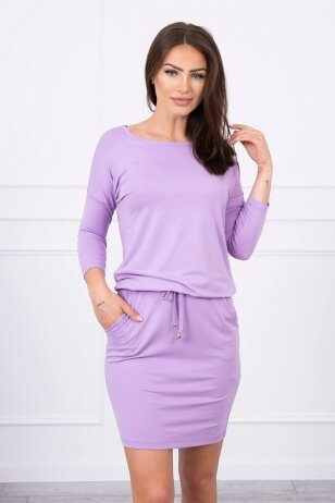 Violetinė suknelė MOD514