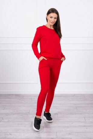 Raudonas sportinis kostiumas MOD711