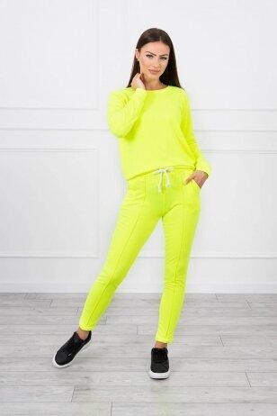 Neoninės geltonos spalvos sportinis kostiumas MOD711