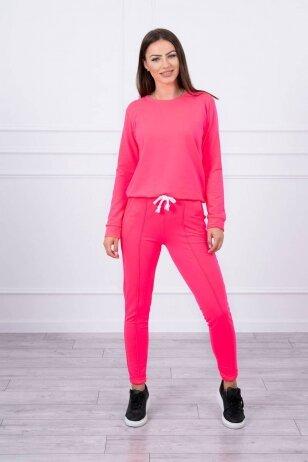 Neoninės rožinės spalvos sportinis kostiumas MOD711