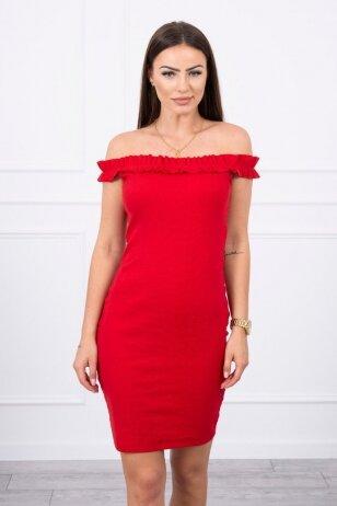 Raudona suknelė MOD712