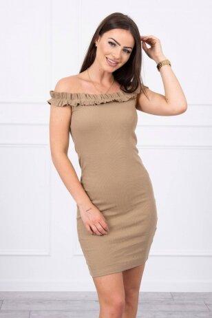 Šviesiai ruda suknelė MOD712