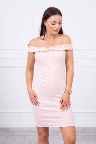 Nude spalvos suknelė MOD712