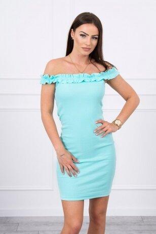 Mėtinės spalvos suknelė MOD712