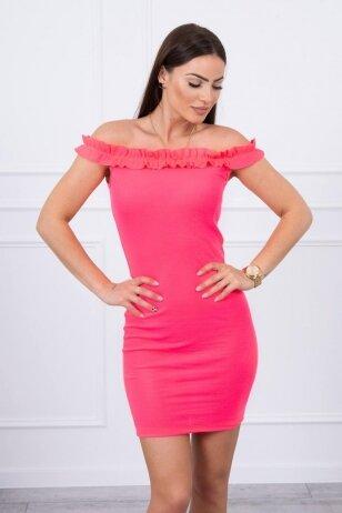 Neoninė rožinė suknelė MOD712