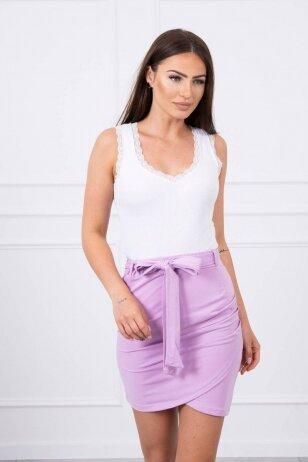 Violetinės spalvos sijonas MOD268