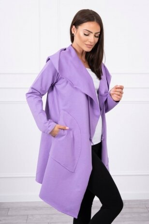 Violetinės spalvos kardiganas MOD396