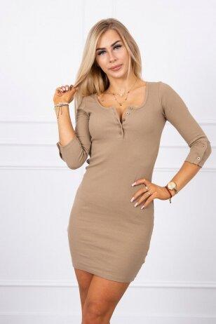 Šviesiai ruda suknelė MOD217