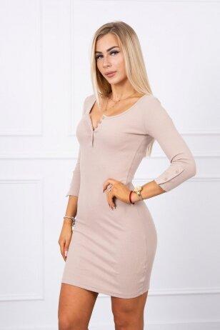 Smėlinės spalvos suknelė MOD217