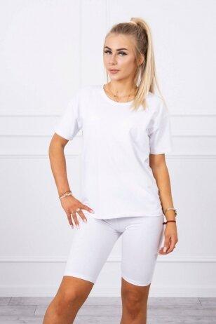 Baltas moteriškas kostiumėlis MOD714