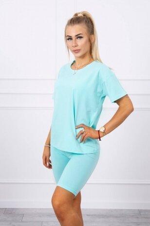 Mėtinės spalvos moteriškas kostiumėlis MOD714