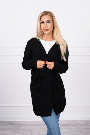 Juodas megztinis MOD737