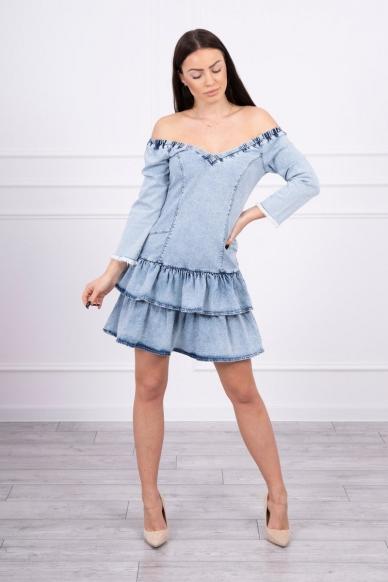 Džinsinė suknelė MOD566 3
