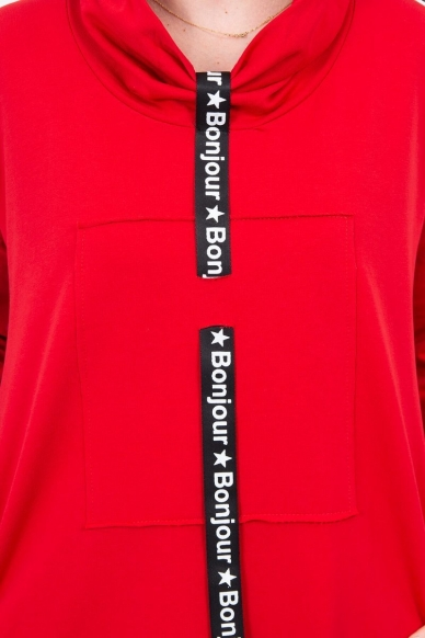Raudona suknelė tunika MOD479 4
