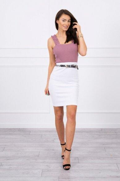 Baltas sijonas MOD690 3