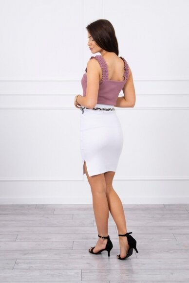 Baltas sijonas MOD690 2