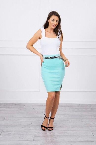Mėtinės spalvos sijonas MOD690 3