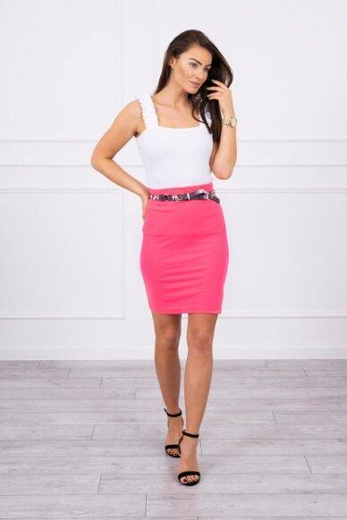 Neoninės rožinės spalvos sijonas MOD690 3