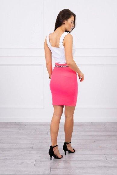 Neoninės rožinės spalvos sijonas MOD690 2