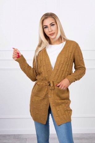 Šviesiai rudas megztinis MOD739