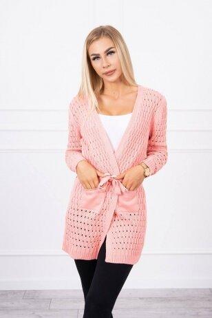 Abrikosinės spalvos megztinis MOD740