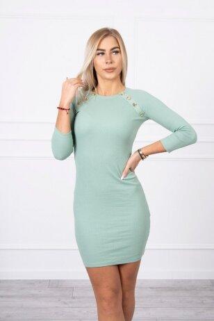 Tamsiai mėtinės spalvos suknelė MOD703
