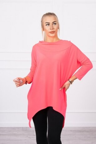 Neoninės rožinės spalvos marškinėliai MOD779
