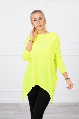 Neoninės žalios spalvos marškinėliai MOD779