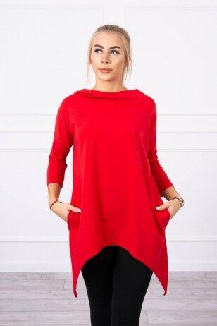 Raudonos spalvos marškinėliai MOD779