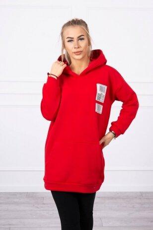 Raudonas džemperis MOD780