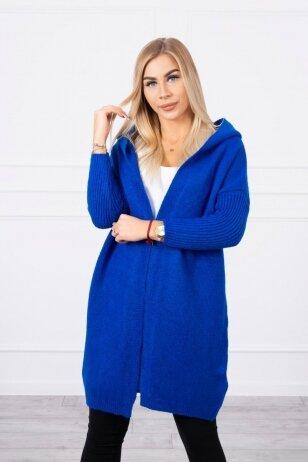 Rugiagėlių spalvos megztinis kardiganas MOD763