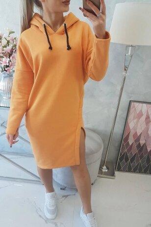 Persikų spalvos suknelė MOD786