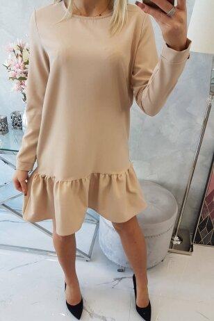 Nude spalvos suknelė MOD496