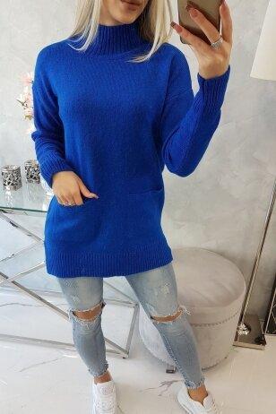 Rugiagėlių spalvos megztinis MOD498