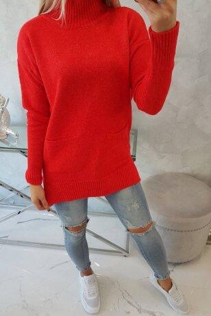 Raudonas megztinis MOD498