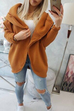 Šviesiai rudos spalvos marškinėliai MOD761