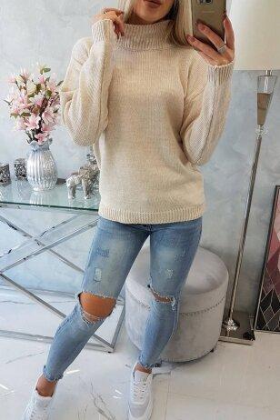 Smėlinės spalvos megztinis MOD781