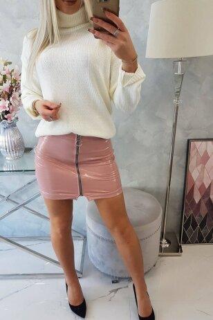 Tamsiai rožinės spalvos sijonas MOD788